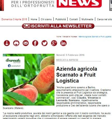 Azienda agricola Scarnato a Fruit Logistica